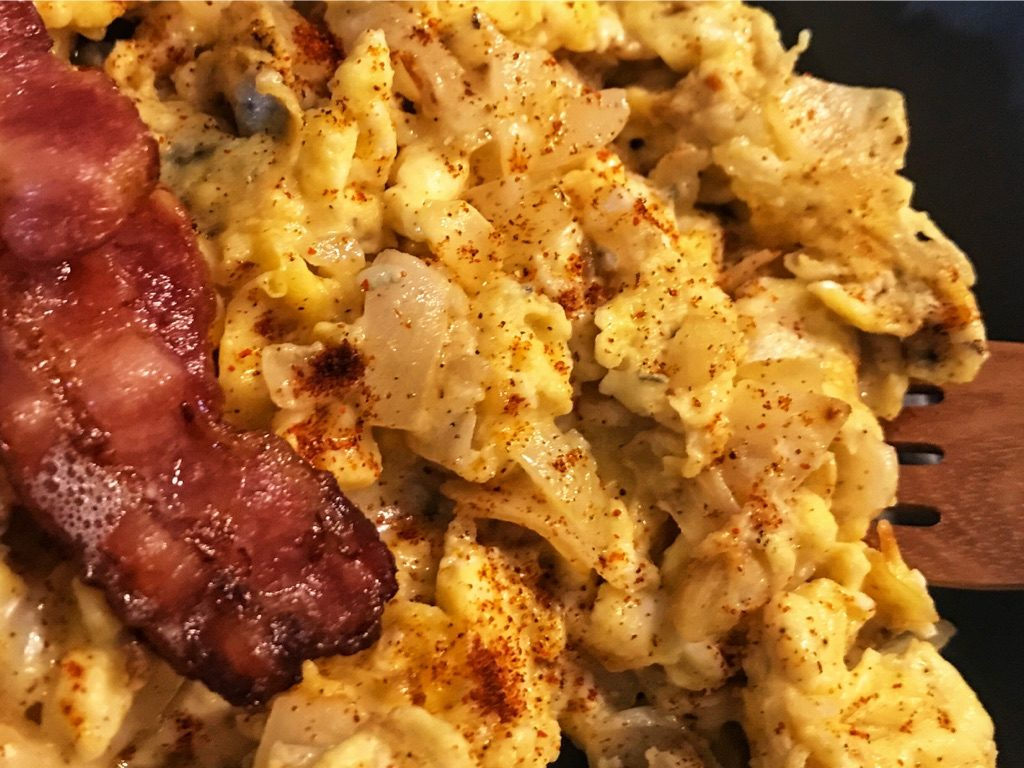gorgonzola eggs and bacon