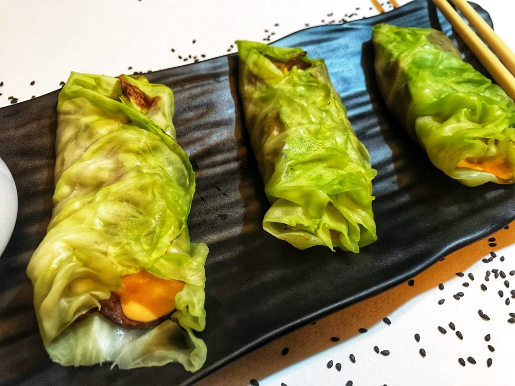 cabbage rolls stuffed with juicy roast beef