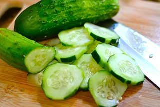 Cucumber is a perfect low carb veggie
