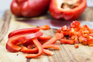enjoy Red peppers on your low carb diet
