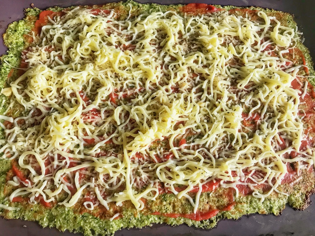 keto pizza made from broccoli