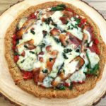 low carb fathead pizza with gorgonzola