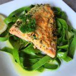 Salmon with lemon parmesan crust